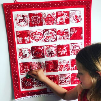 Traditional Handmade Personalised Advent Calendar